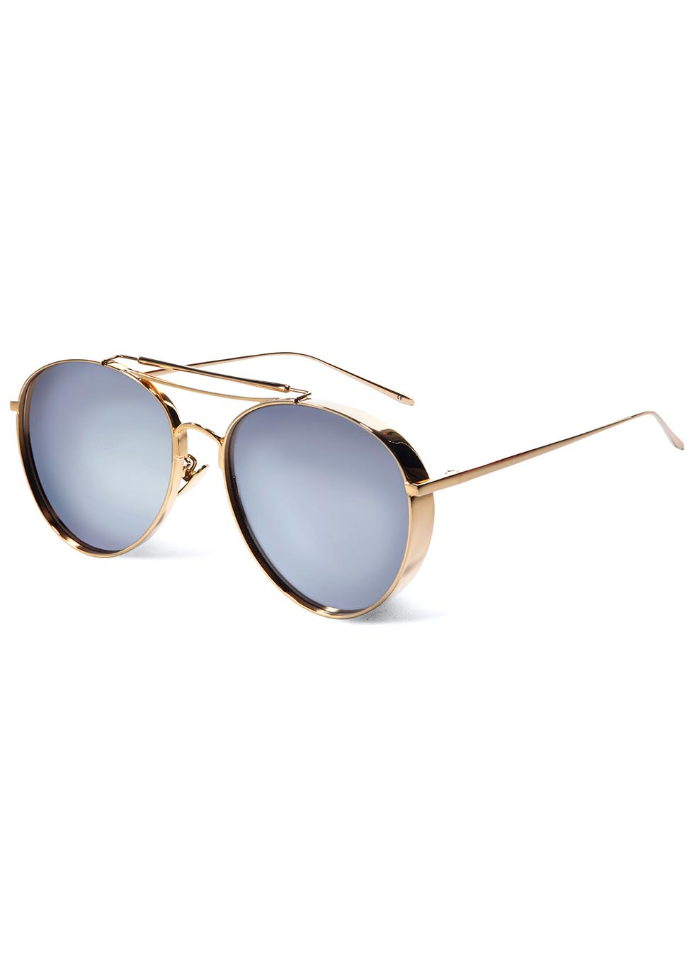 7f7e85852 Gentle Monster Big Bully Mirrored Aviator-style Sunglasses in ...