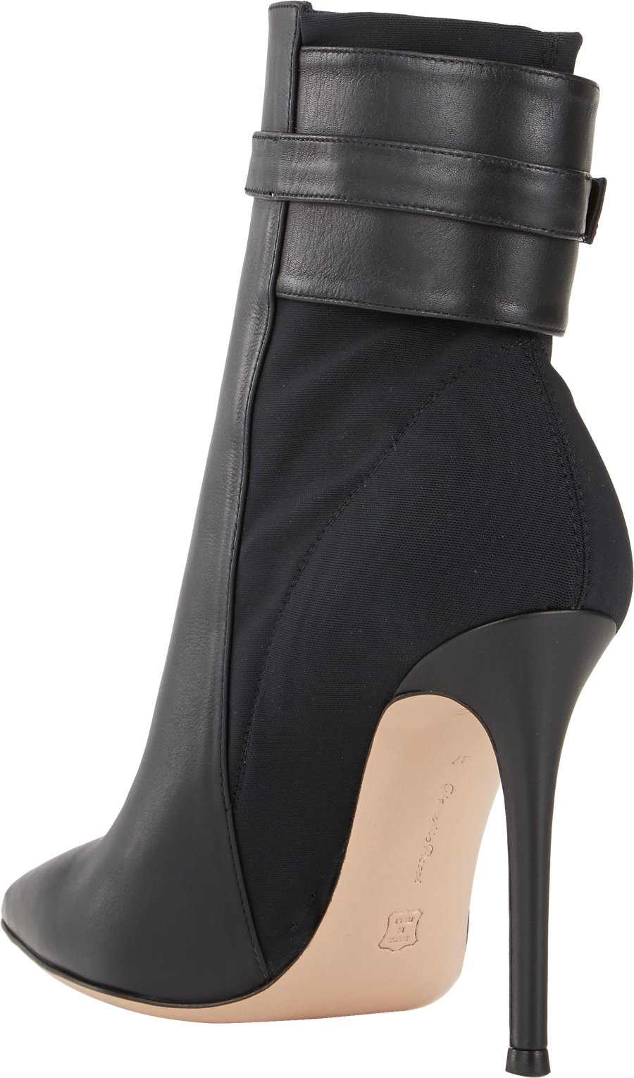 gianvito ankle cuff boots in black lyst