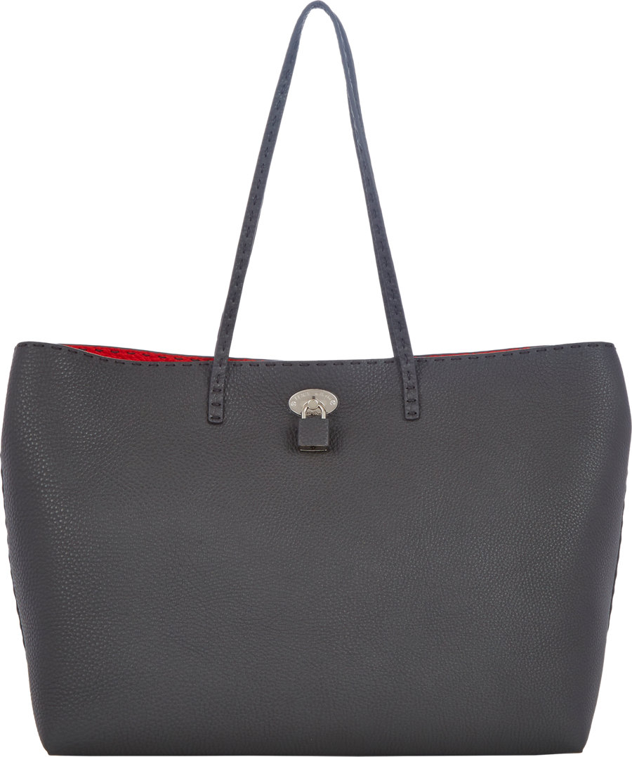 91b7c94775d3 Fendi Selleria Carla Large Tote in Gray (grey)