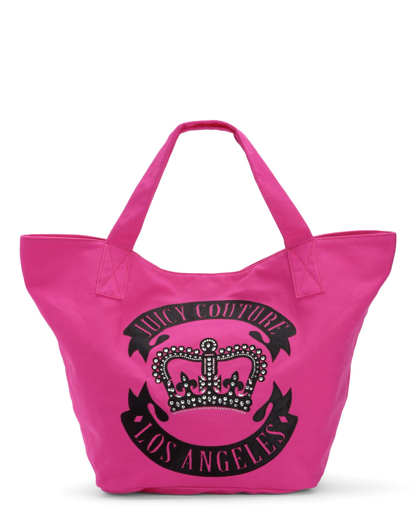 juicy couture glam crown canvas tote bag in pink lyst. Black Bedroom Furniture Sets. Home Design Ideas
