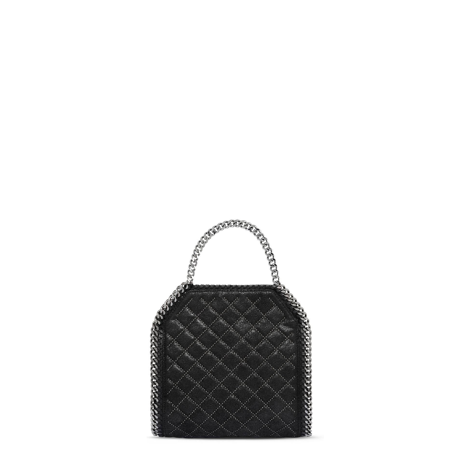 8571227ab7 Stella McCartney Black Falabella Studded Quilted Shaggy Deer Mini Tote in  Black - Lyst