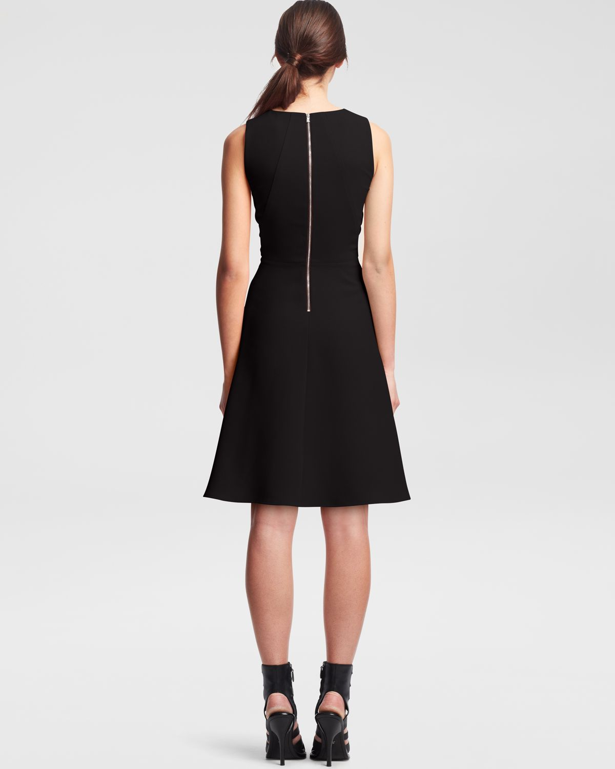 Kenneth Cole Sherry Fit Flare Dress In Black Lyst