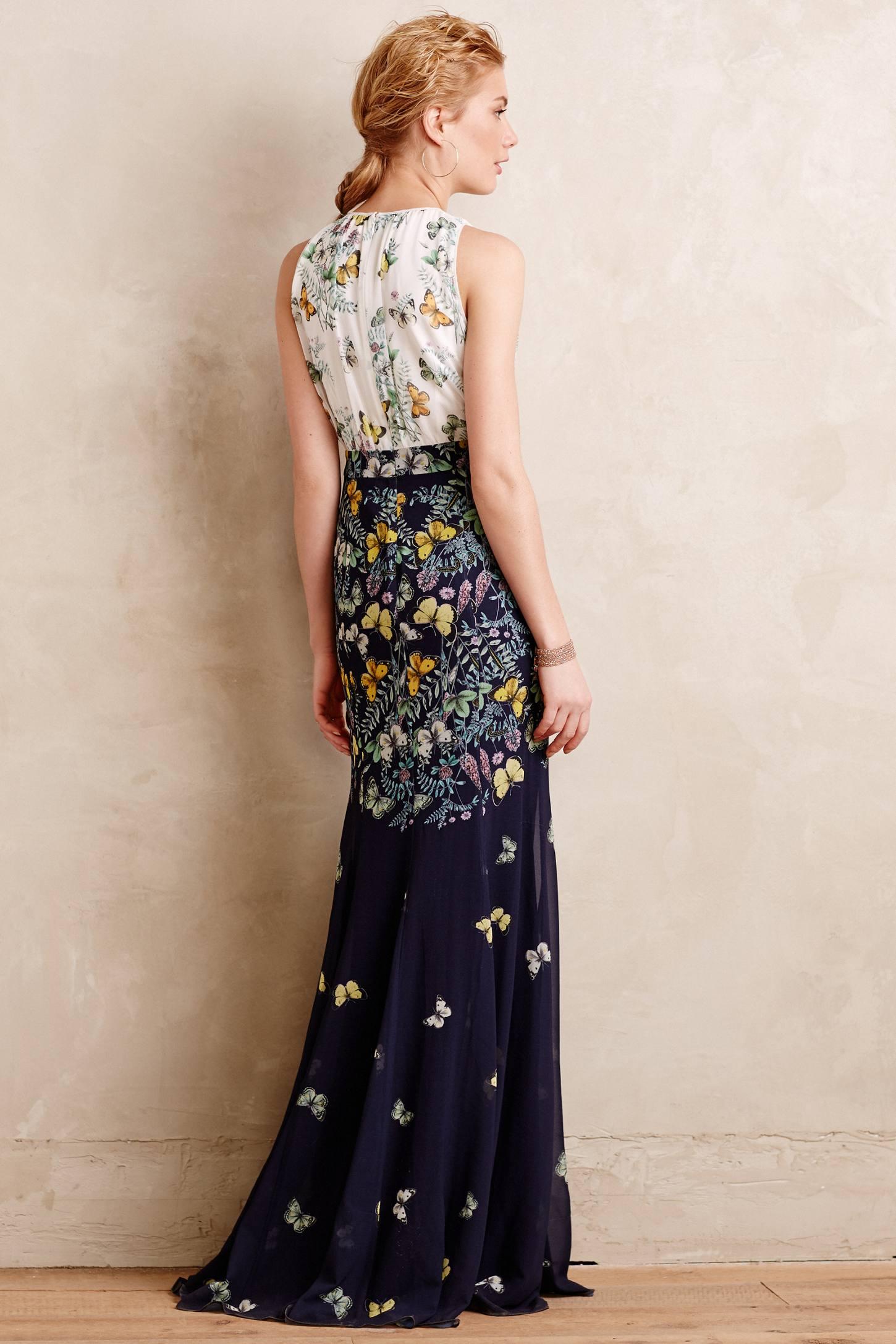 Erin Fetherston Butterfly Garden Gown In Blue Lyst