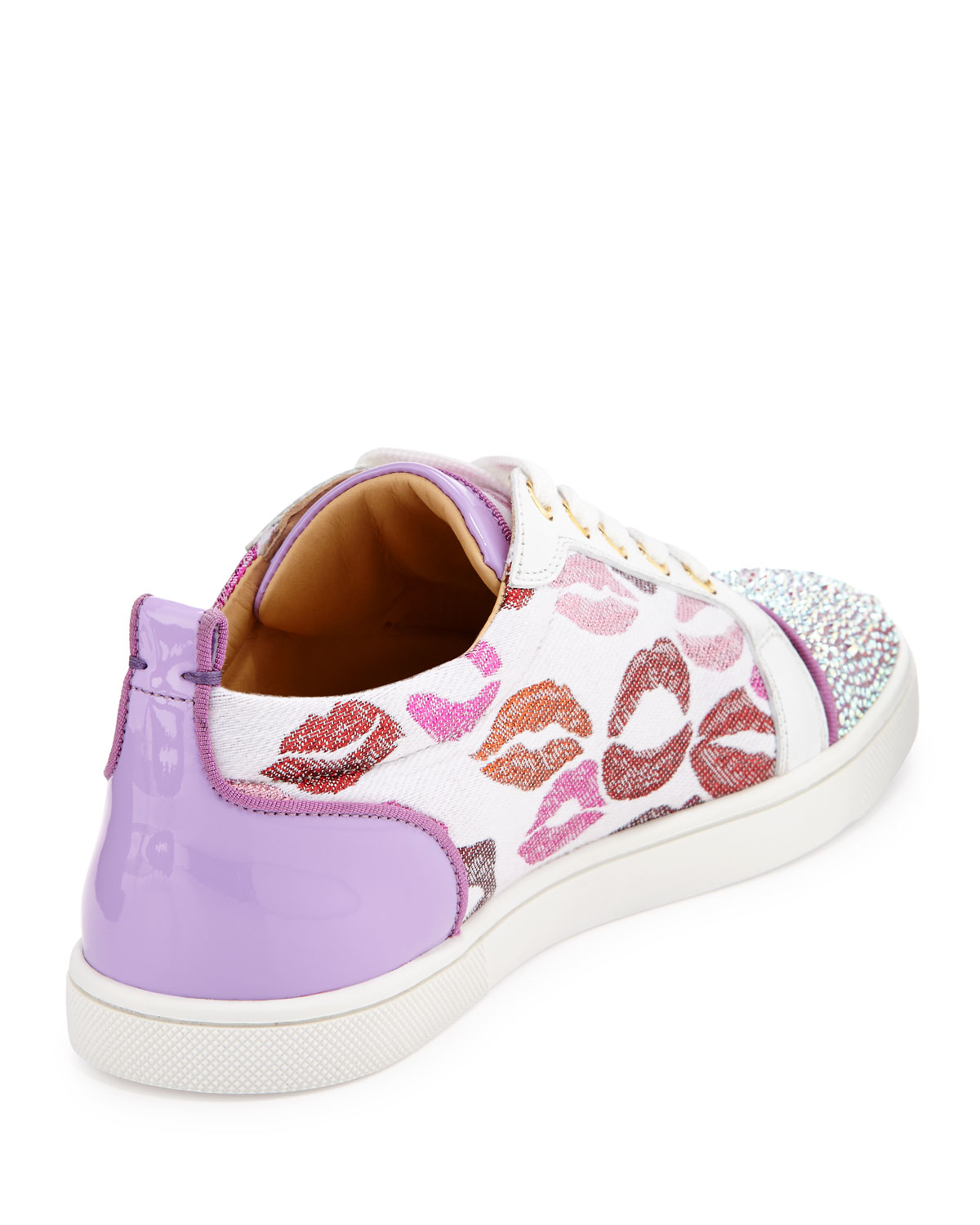 christian louboutin imitations - Christian louboutin Gondolastrass Lip-print Low-top Sneaker in ...