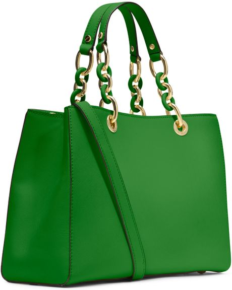 Low Cost Michael Kors Cynthia Totes - Bags Michael By Michael Kors Medium Cynthia Saffiano Satchel Palm