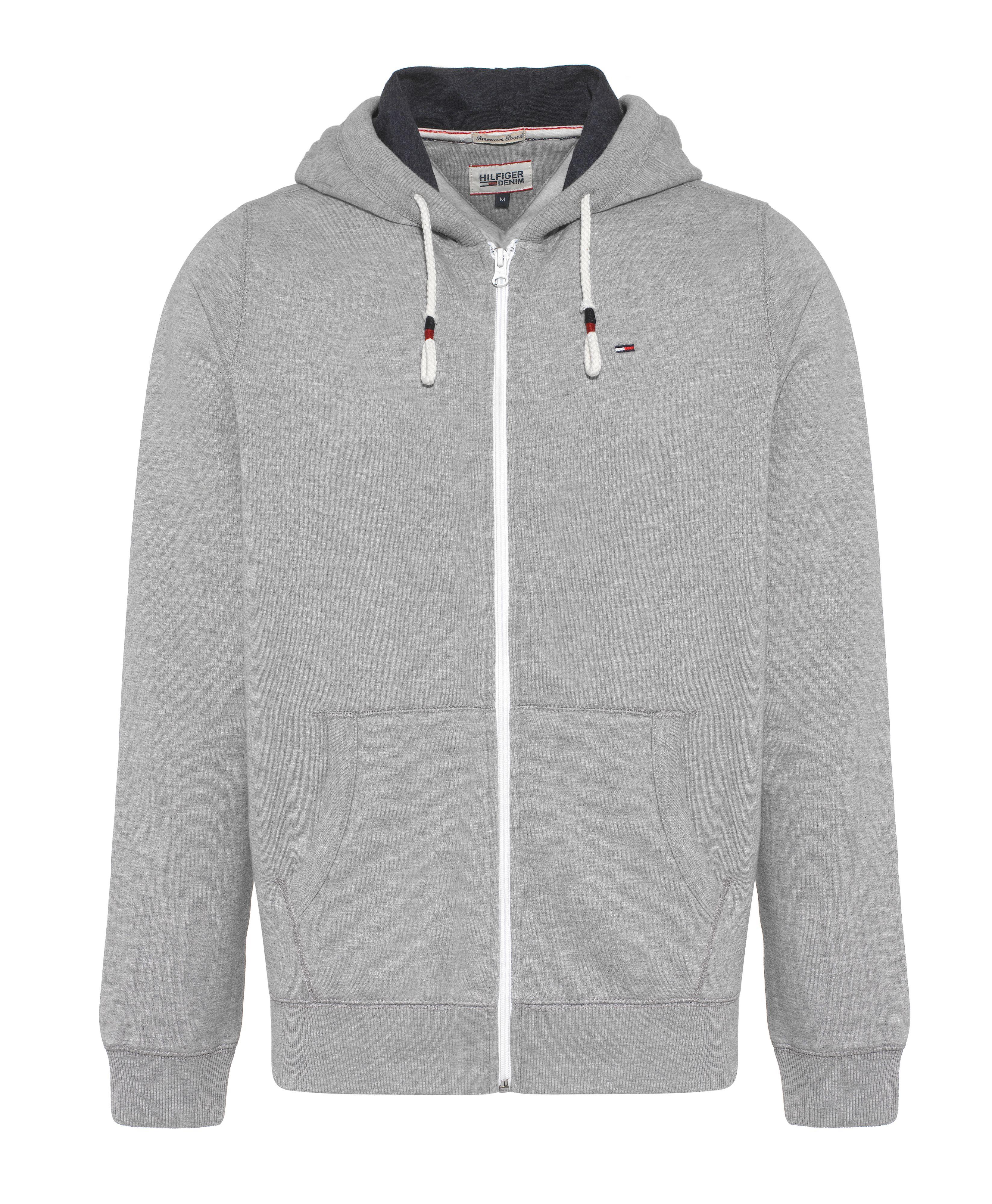 tommy hilfiger vaco plain crew neck zip fastening hoodie in gray for men lyst. Black Bedroom Furniture Sets. Home Design Ideas