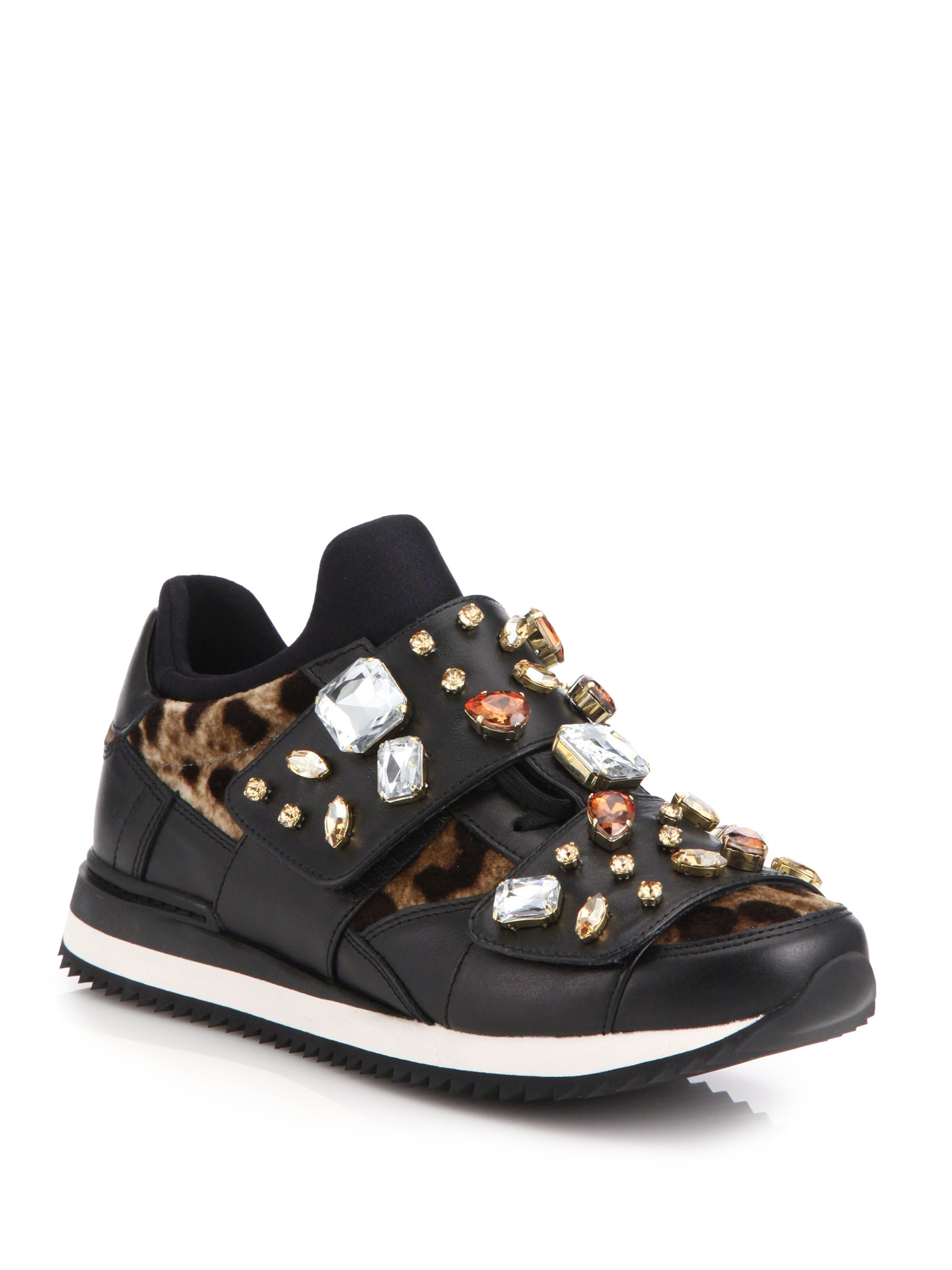 leopard lace-up sneakers - Black Dolce & Gabbana Ap9Ias4Xqc