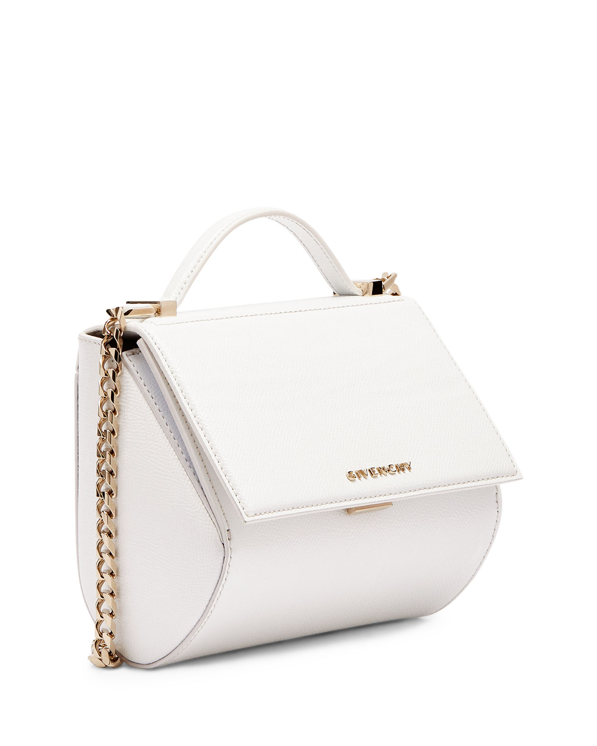 2cf1e2b0ec Lyst - Givenchy Pandora Box Mini Leather Bag in White
