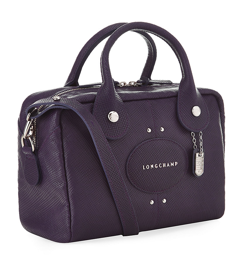 Longchamp Small Quadri Handbag in Purple (Bilberry)