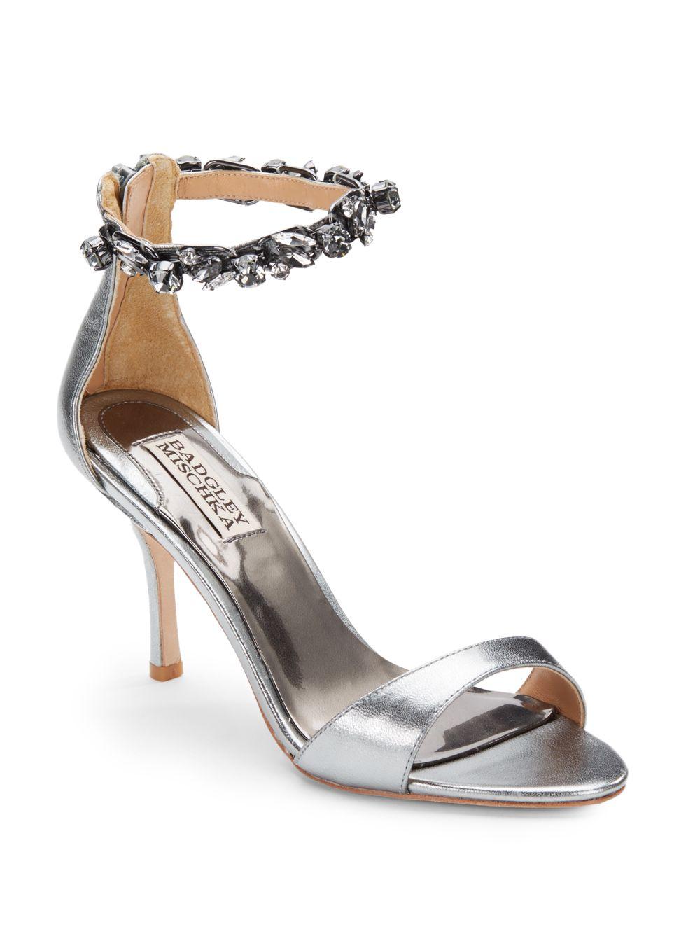 Lyst Badgley Mischka Klark Embellished Ankle Strap