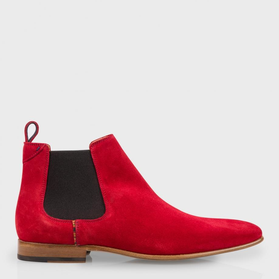 Paul smith Falconer Suede Chelsea Boots in Red for Men | Lyst