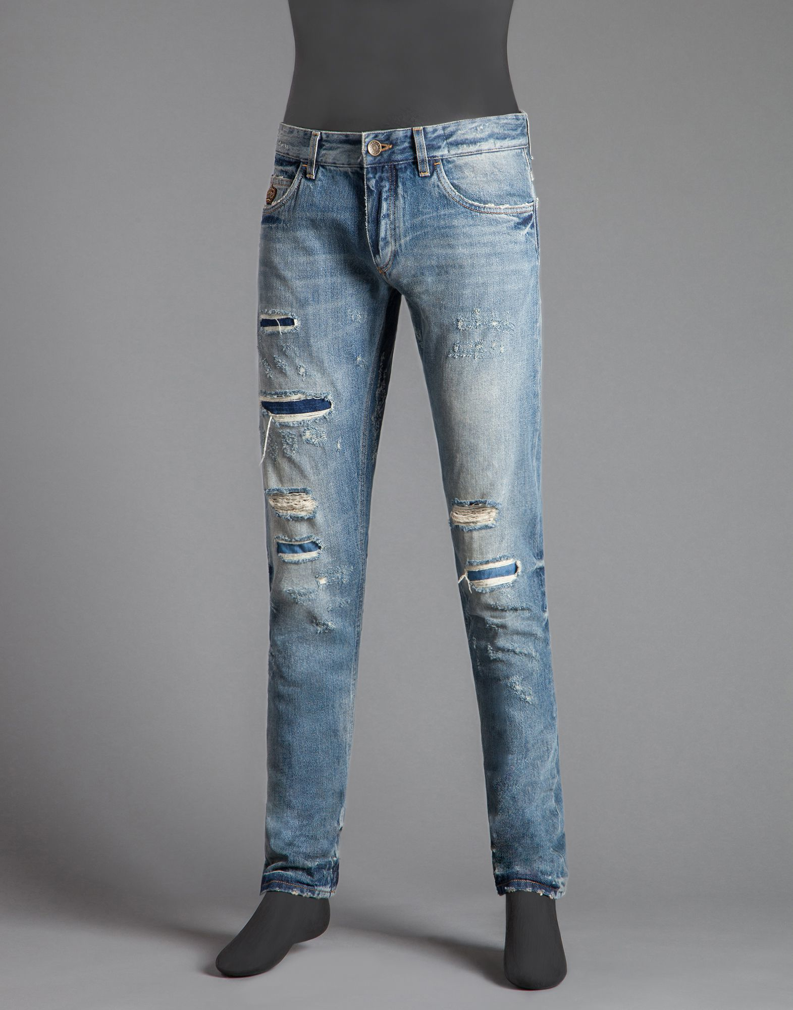 Sale Buy Cheap Sale Footlocker Slim-fit Distressed Denim Jeans Dolce & Gabbana New Clearance Newest q4wN9zF3R