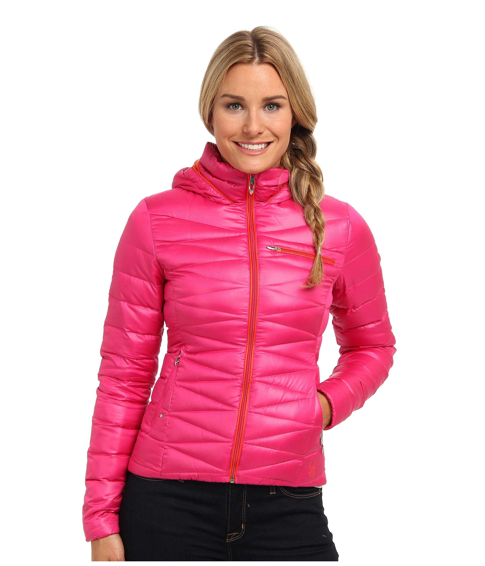 b57656f481 Lyst - Spyder Timeless Hoodie Down Jacket in Pink