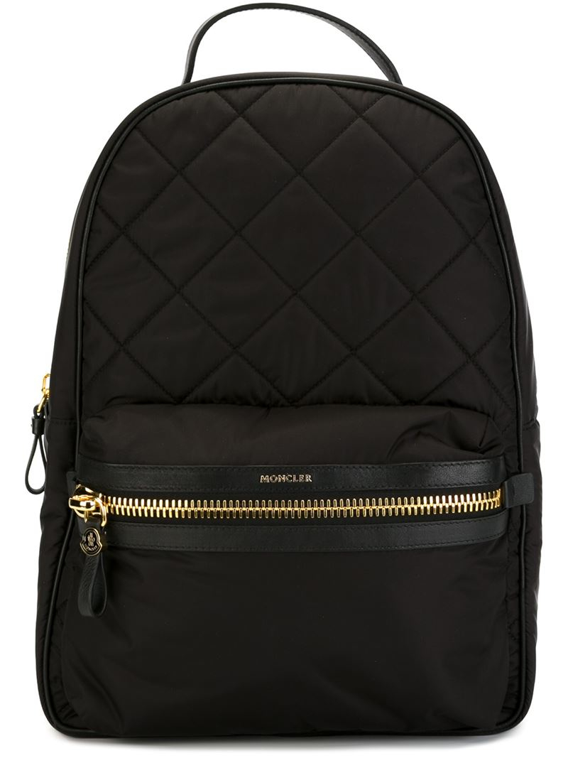 Moncler Quilted Backpack In Black Lyst
