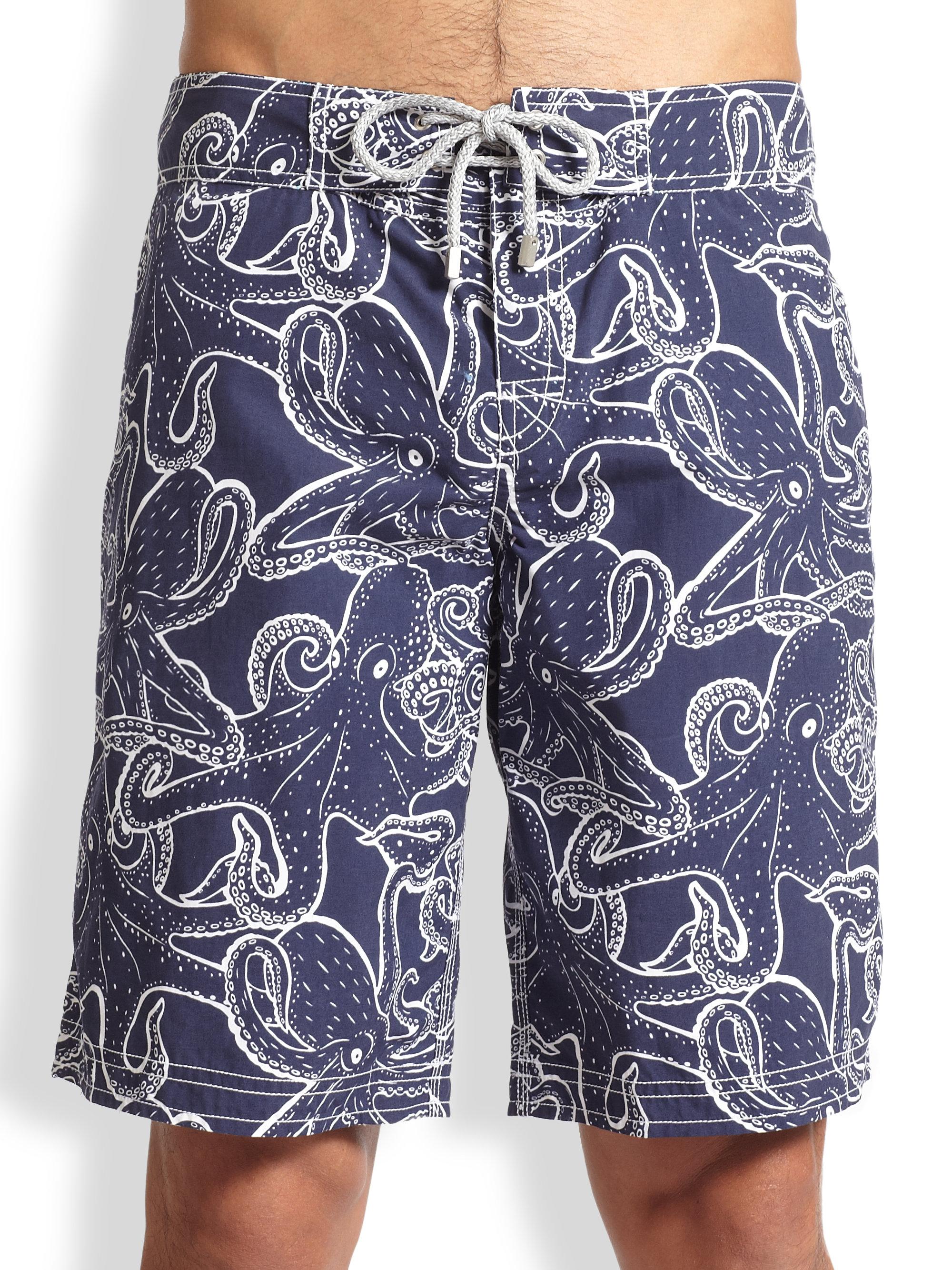 018ac5dfc9376 Vilebrequin Ocean Octopus Swim Trunks in Blue for Men - Lyst