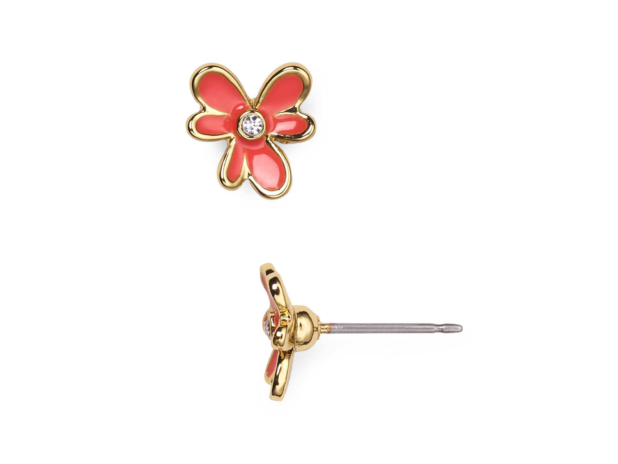 Lyst - Kate spade new york Pansy Blossoms Stud Earrings in Orange