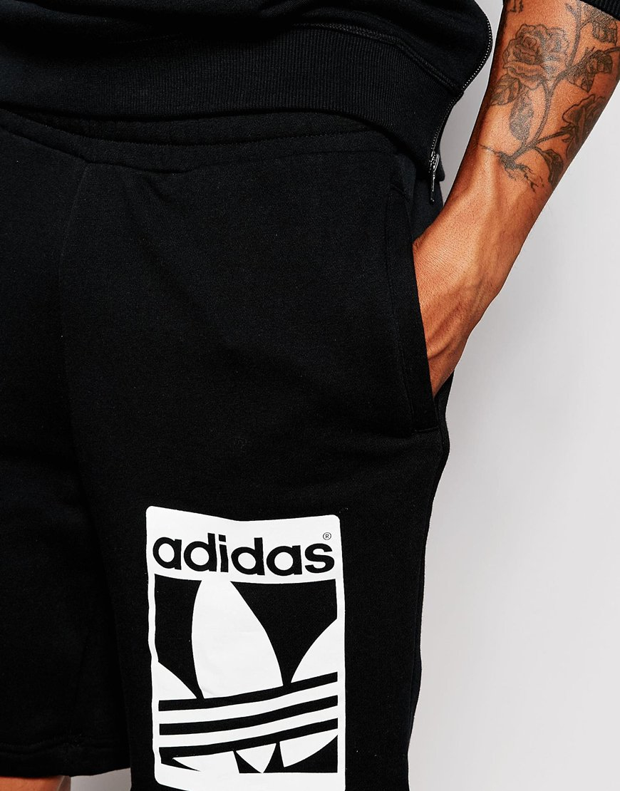 Shorts In Lyst Graphics Ab8043 Adidas Sweat Black Originals Men For pfrYwxIf