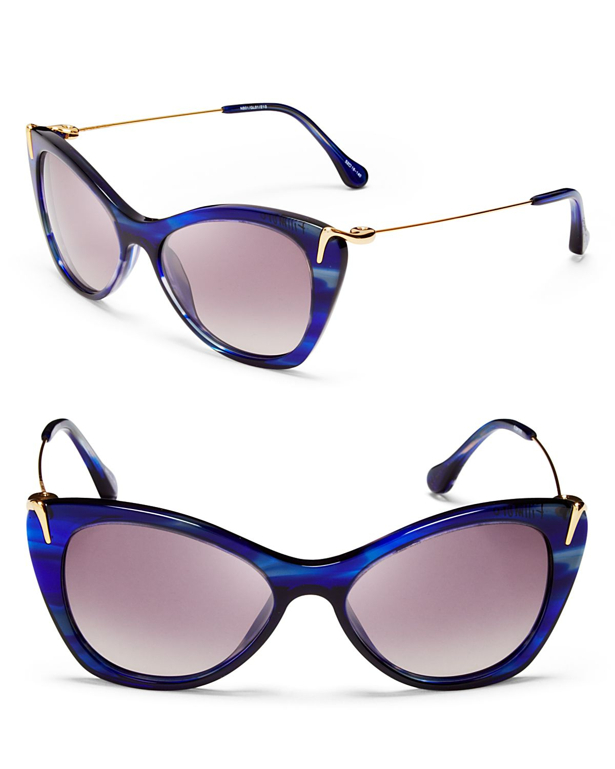 1fd33304dd Lyst - Elizabeth and James Fillmore Cat Eye Sunglasses in Blue