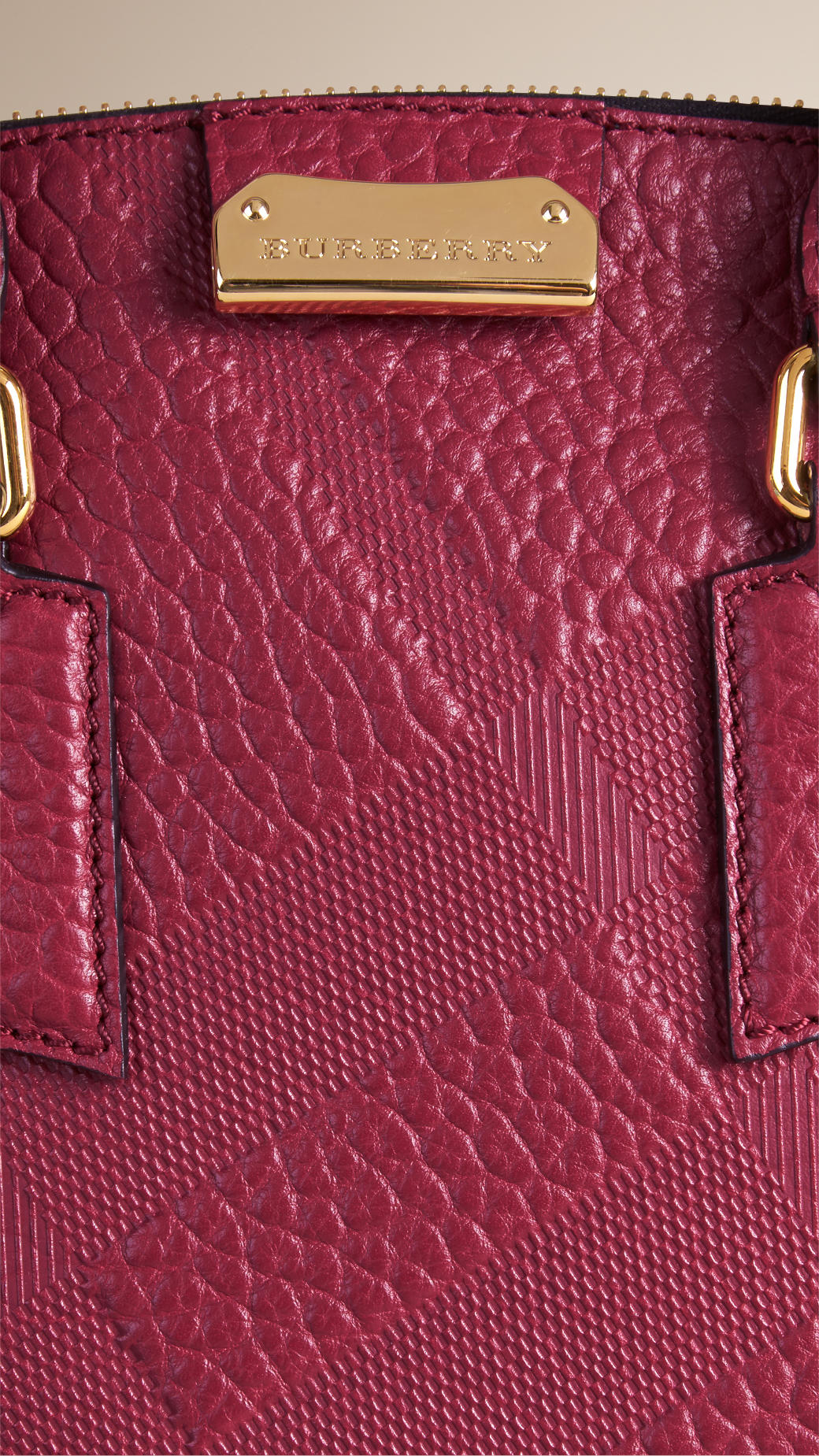0b3ec3983ed Burberry The Small Orchard Embossed Check Leather Bag in Purple - Lyst