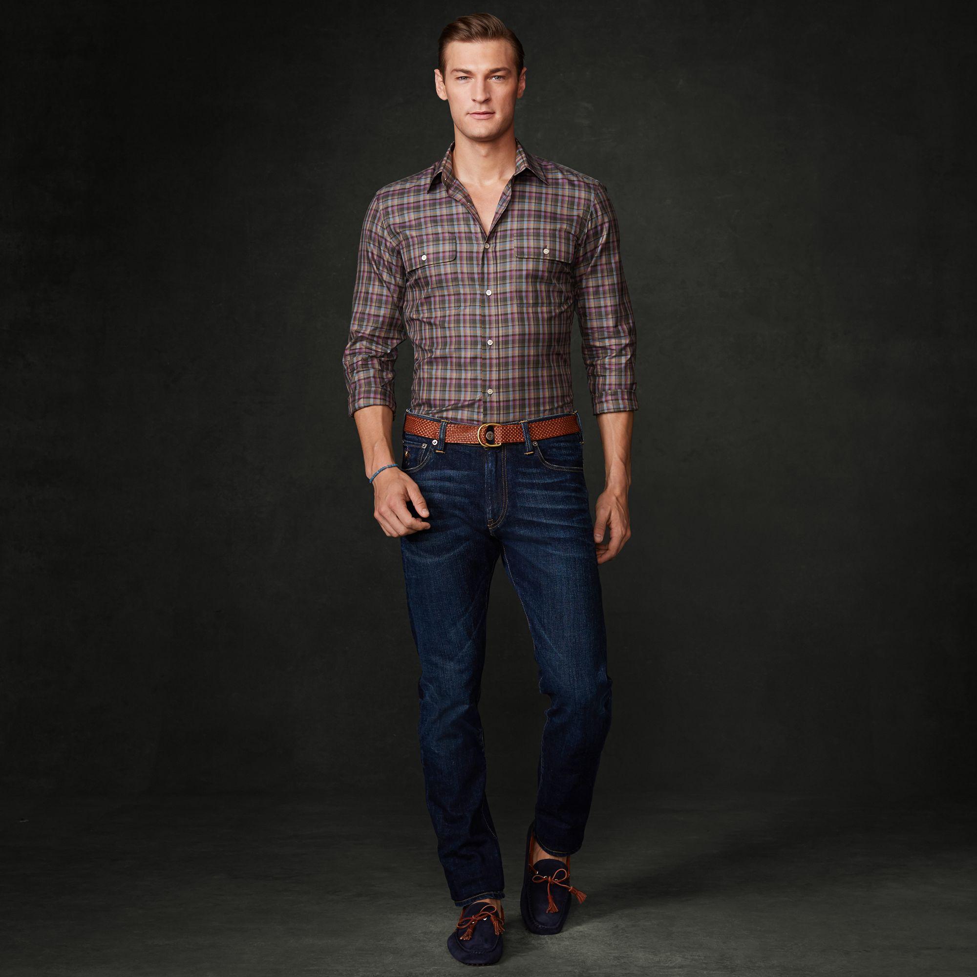 d00a3a372 Ralph Lauren Purple Label Straight-Fit Stretch Jean in Blue for Men ...