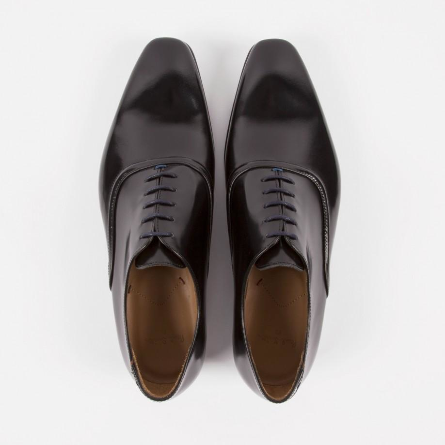 paul smith s black high shine leather starling shoes