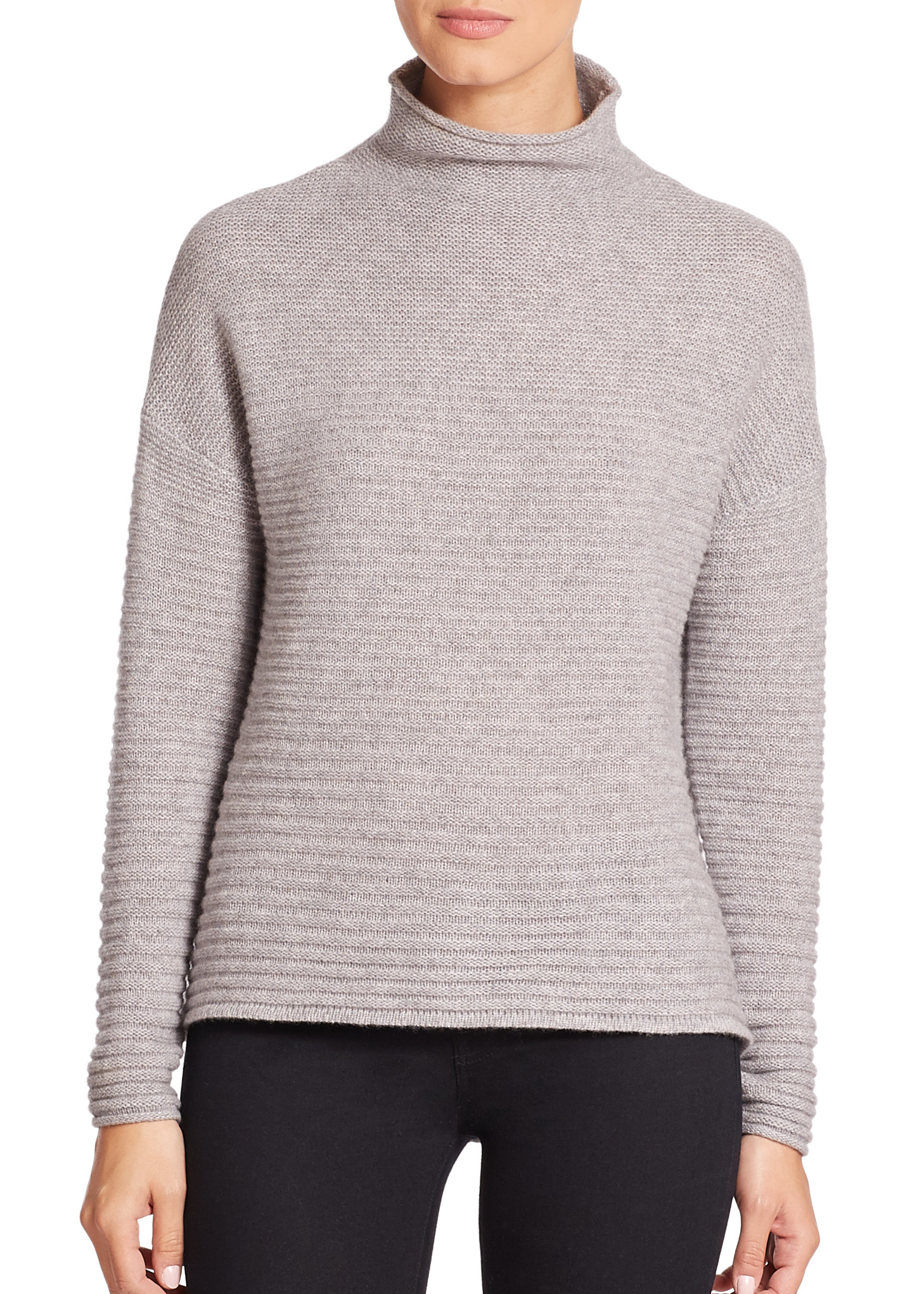 360cashmere Audra Mock-neck Cashmere Sweater in Gray | Lyst