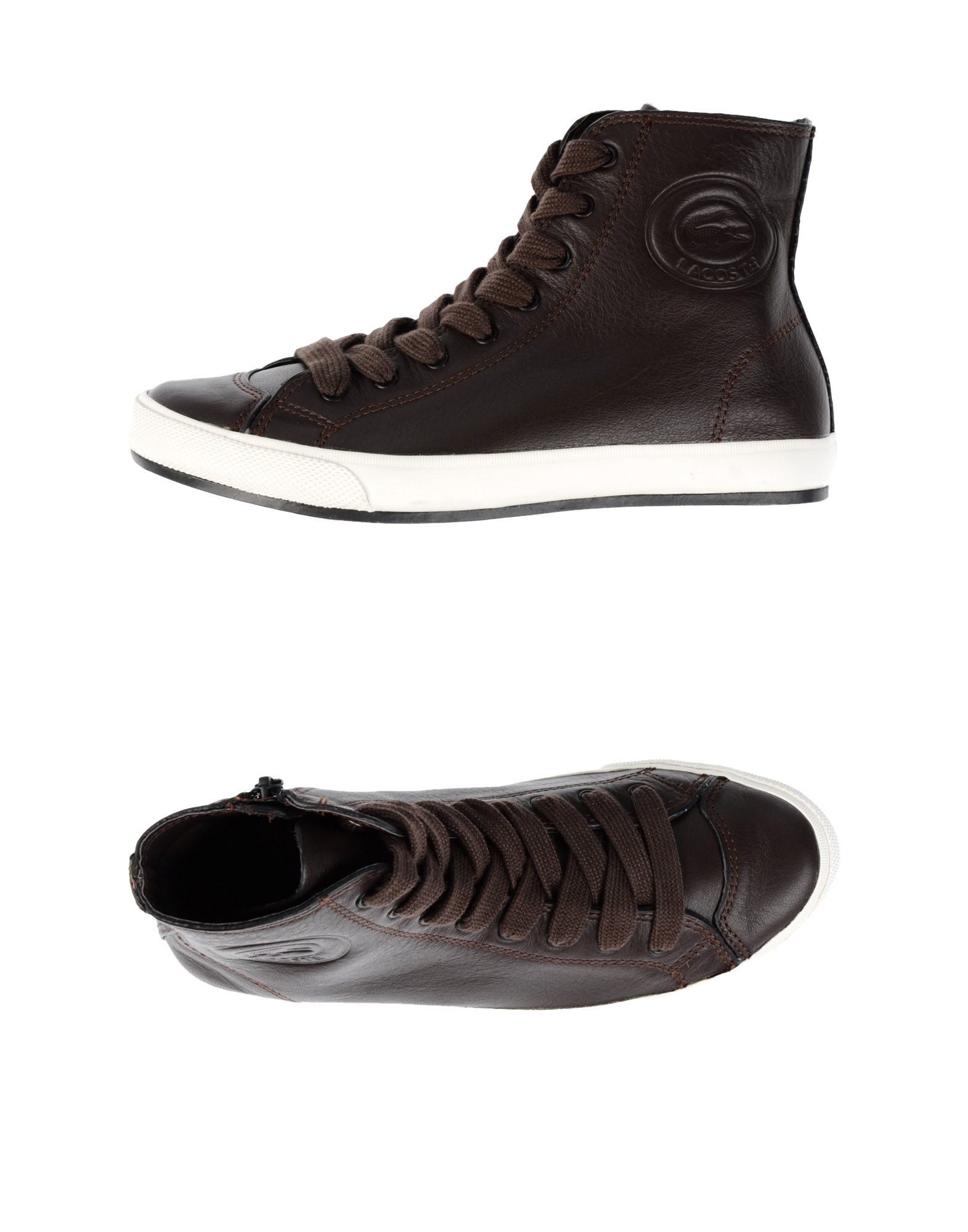 lyst lacoste hightops amp trainers in brown
