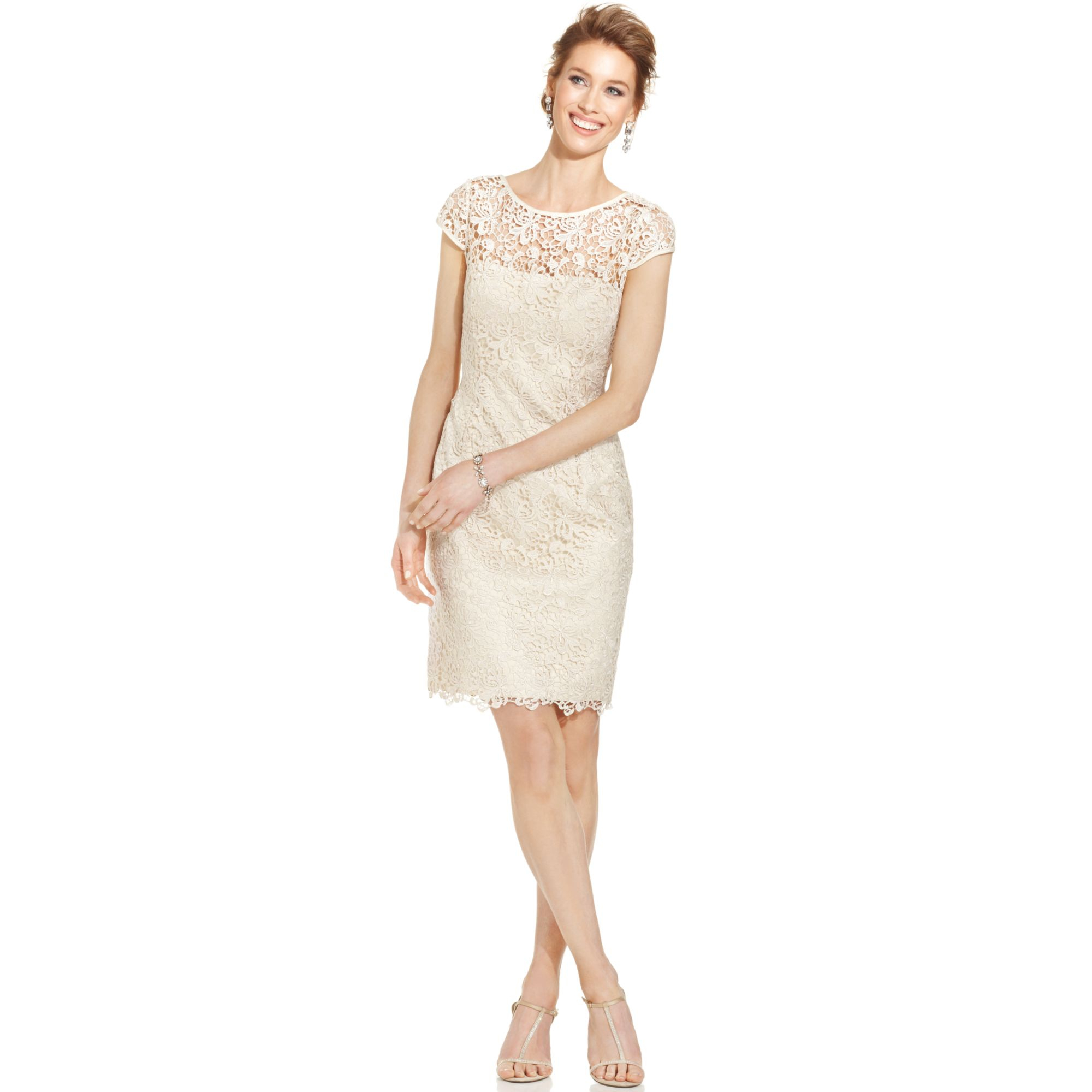 eed6c532900b Gallery. Previously sold at: Macy's · Women's Adrianna Papell Lace Dress  Women's Adrianna Papell Sheath Dress