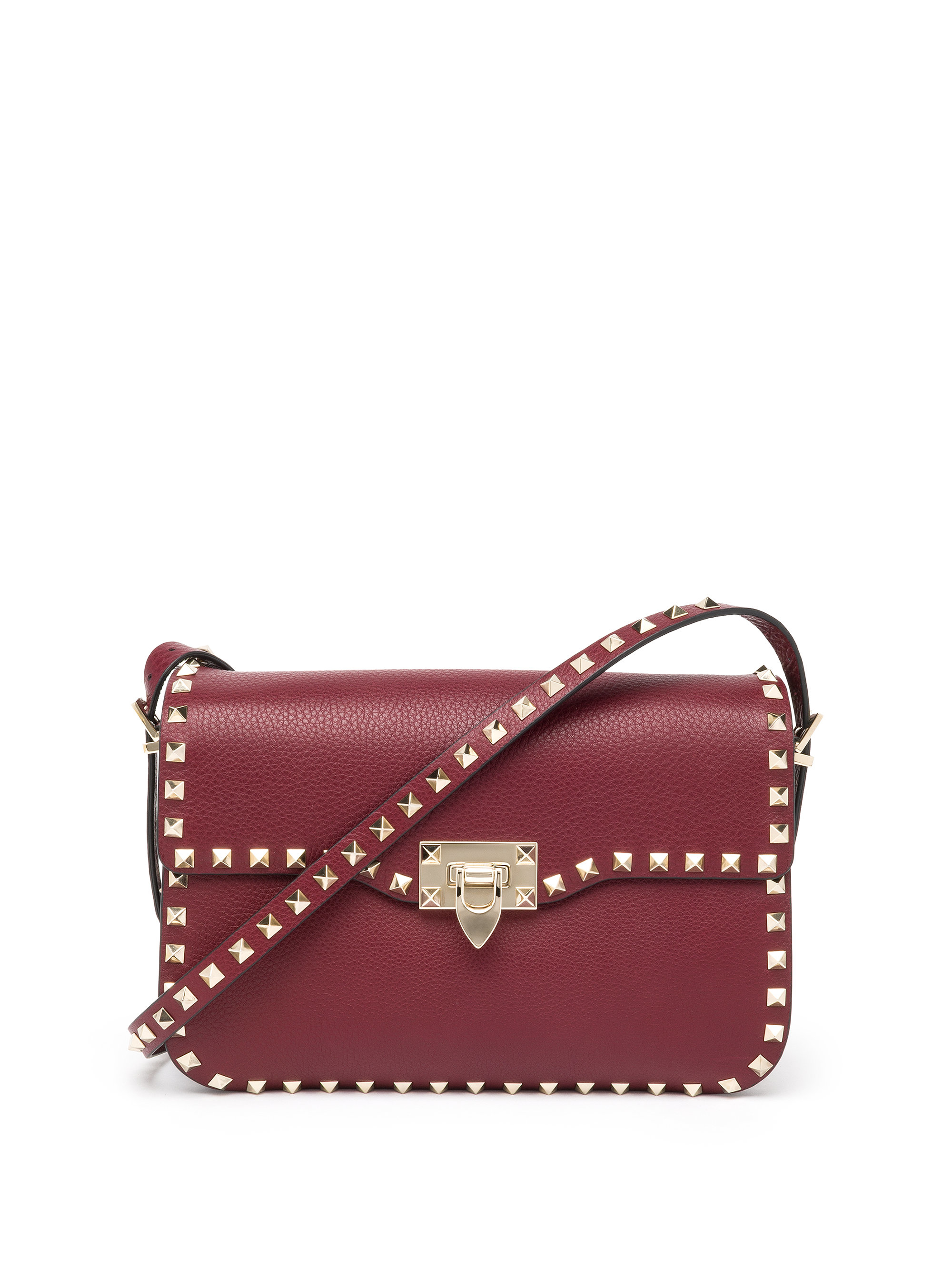 1c85d99251 Lyst Valentino Rockstud Leather Shoulder Bag In Purple