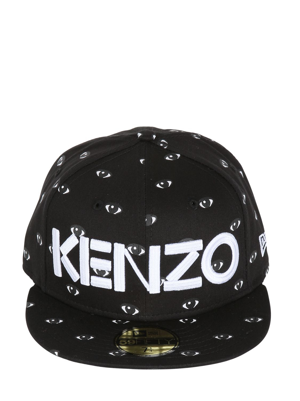 Lyst - KENZO Eye Printed Baseball Hat in Black for Men f75568f60c78