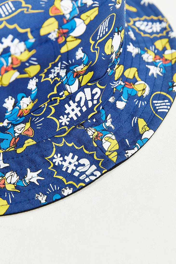 Lyst - Vans Donald Duck Bucket Hat in Blue for Men 3c4a1001b7ad