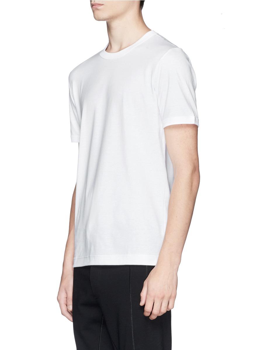 lyst dolce gabbana cotton jersey t shirt in white for men. Black Bedroom Furniture Sets. Home Design Ideas