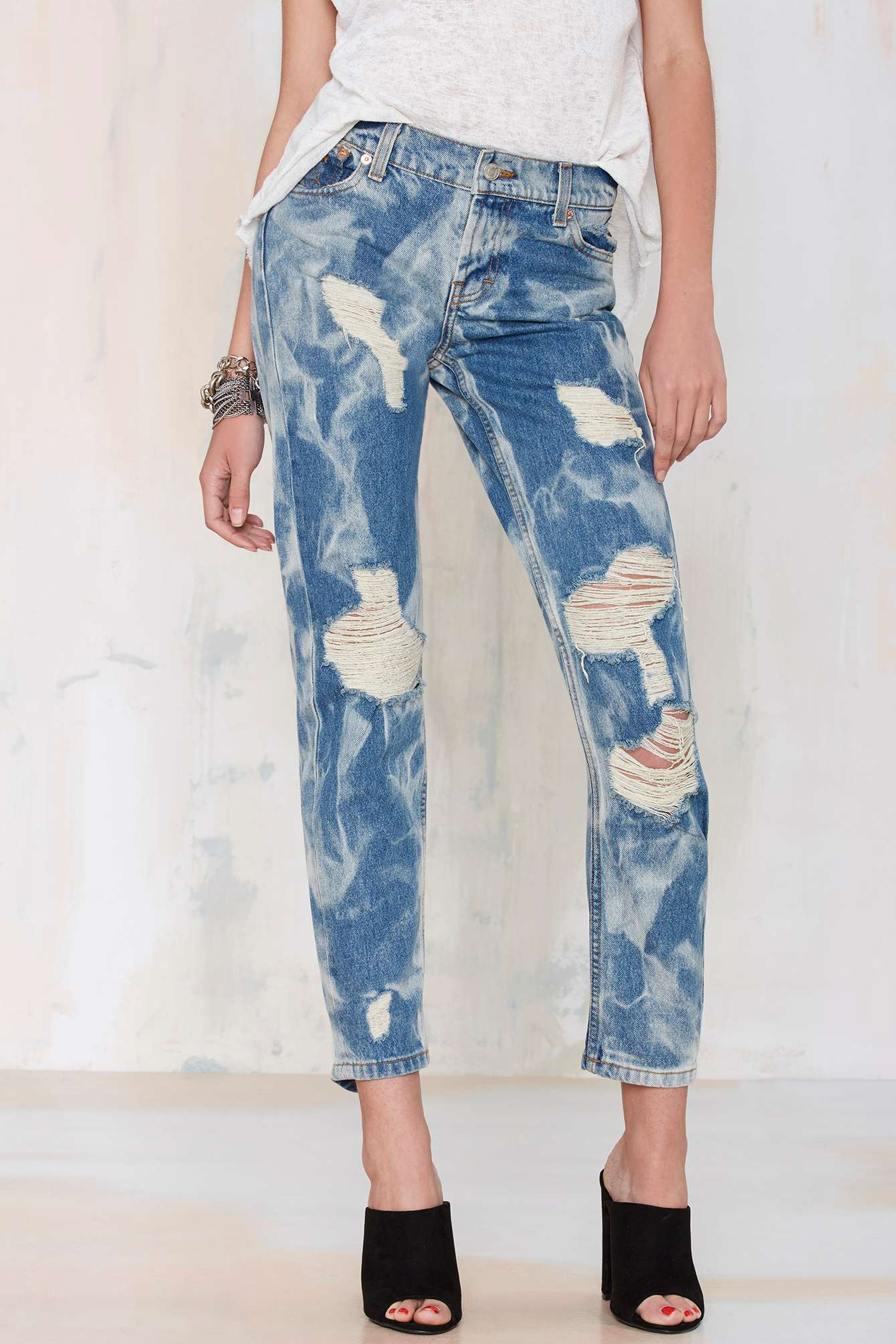 Nasty gal The Laundry Room California Bad Boys Boyfriend Jeans in ...