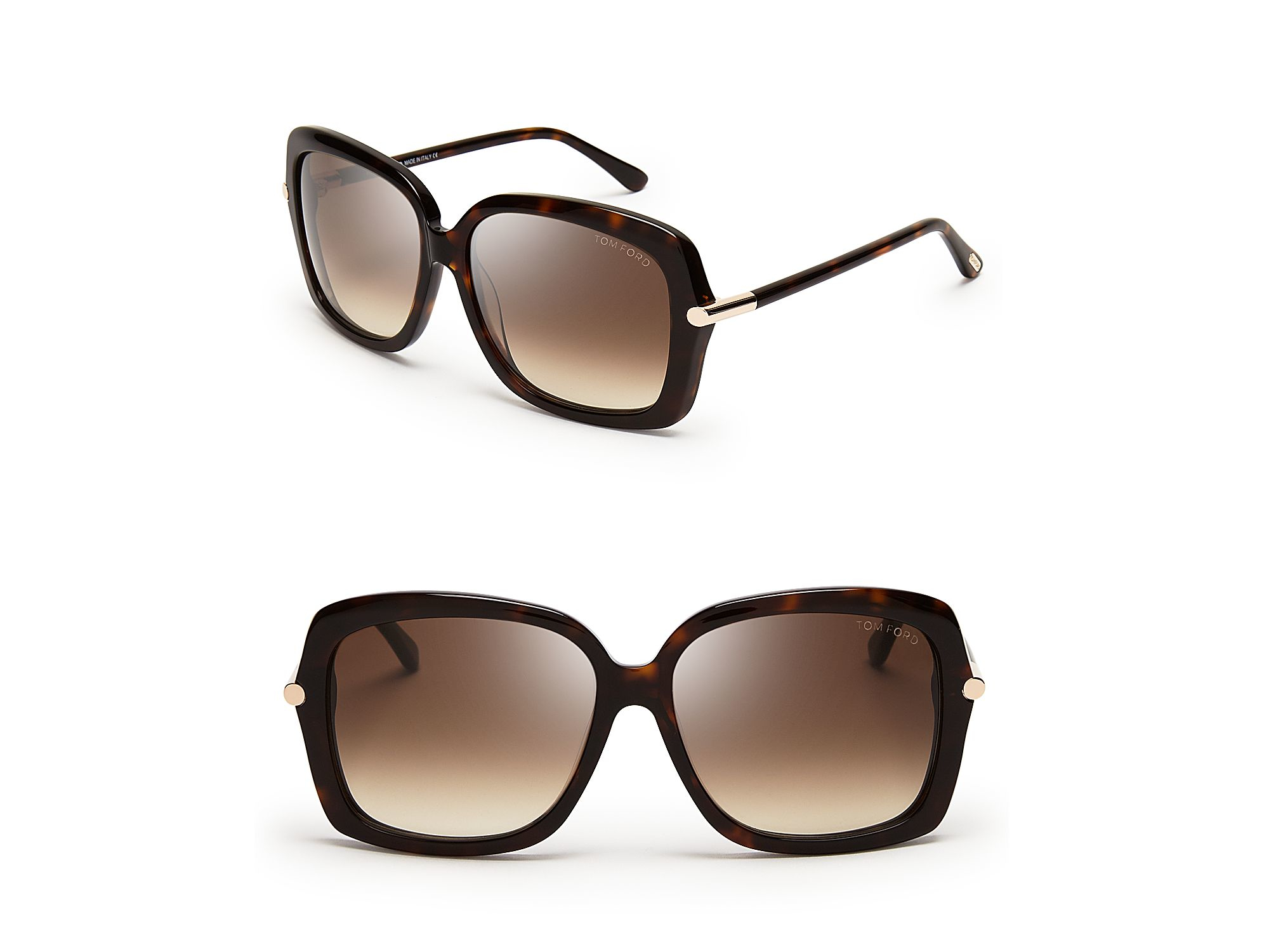 9bccd0f2a7ae3 Lyst - Tom Ford Paloma Oversized Sunglasses in Brown