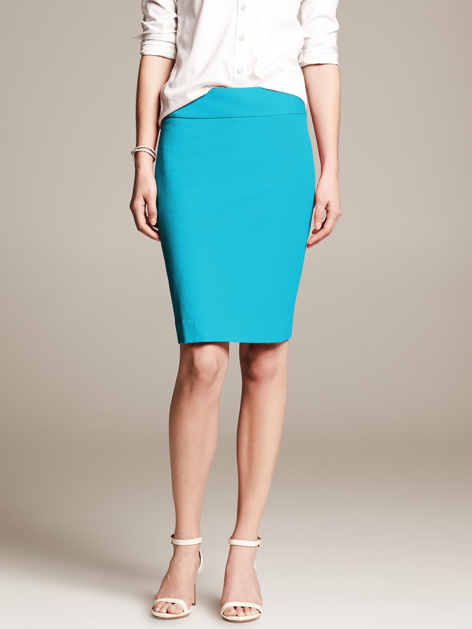 e413fcf9e Banana Republic Sloan Fit Pencil Skirt Totally Turquoise in Blue - Lyst