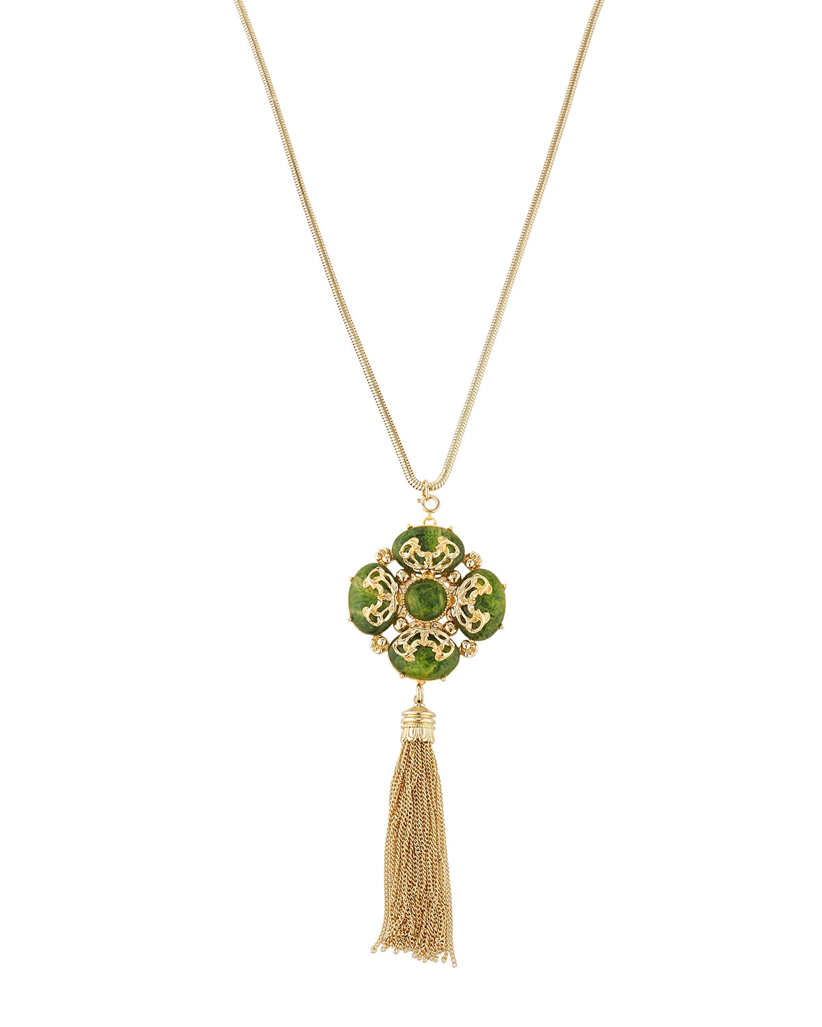 fragments marbled resin pendant necklace in green lyst