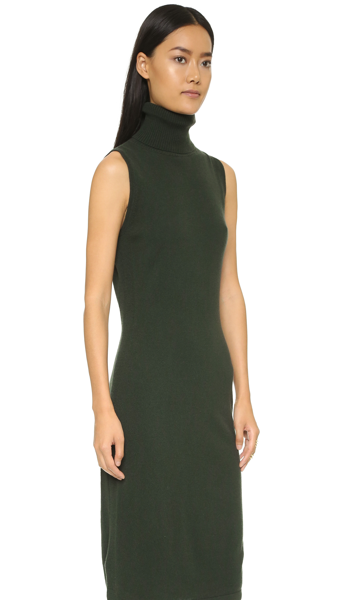 70172ed2af3c27 Lyst Autumn Cashmere Sleeveless Turtleneck Dress Kale In Green