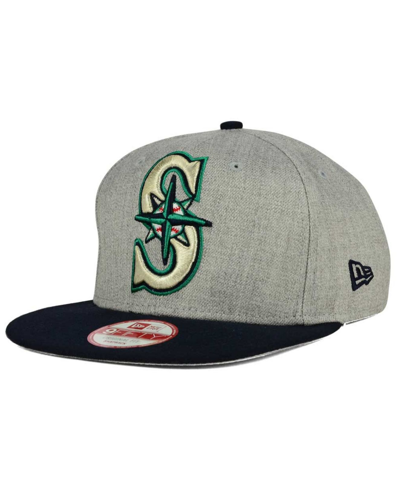 newest e562d e33e7 Lyst - KTZ Seattle Mariners Logo Grand 9fifty Snapback Cap in Gray ...
