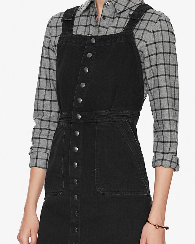 d95098636c3 M.I.H Jeans Eastman Denim Dress  Black in Black - Lyst