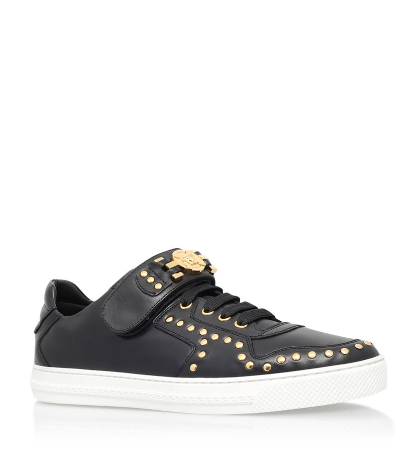 Versace Medusa Stud Sneaker In Black For Men Lyst