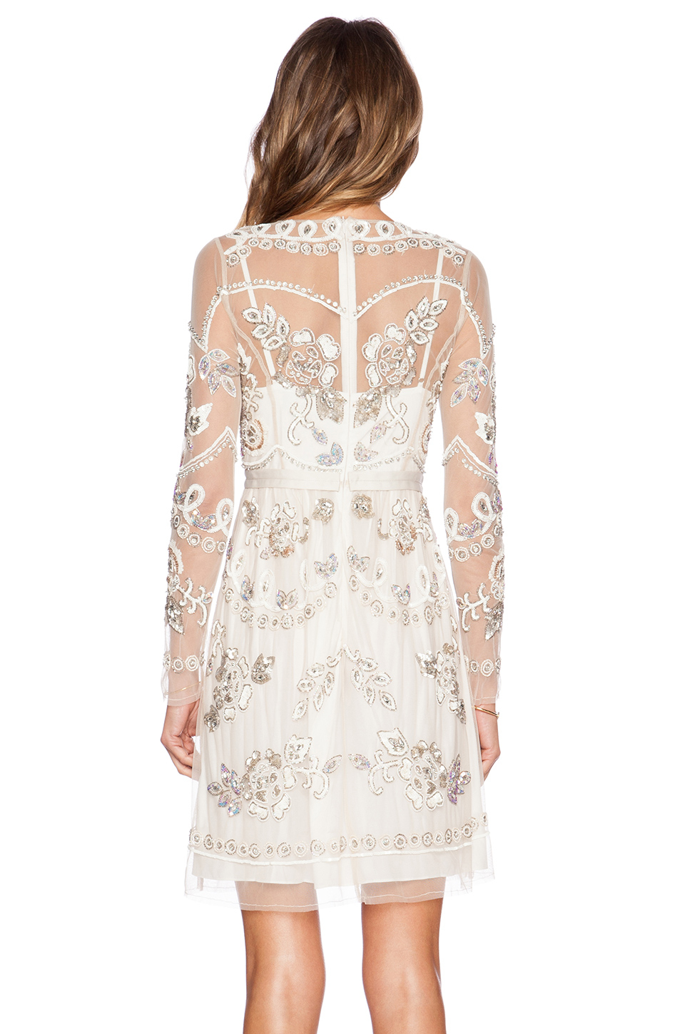 Needle Amp Thread Floral Garden Sequined Dress Lyst