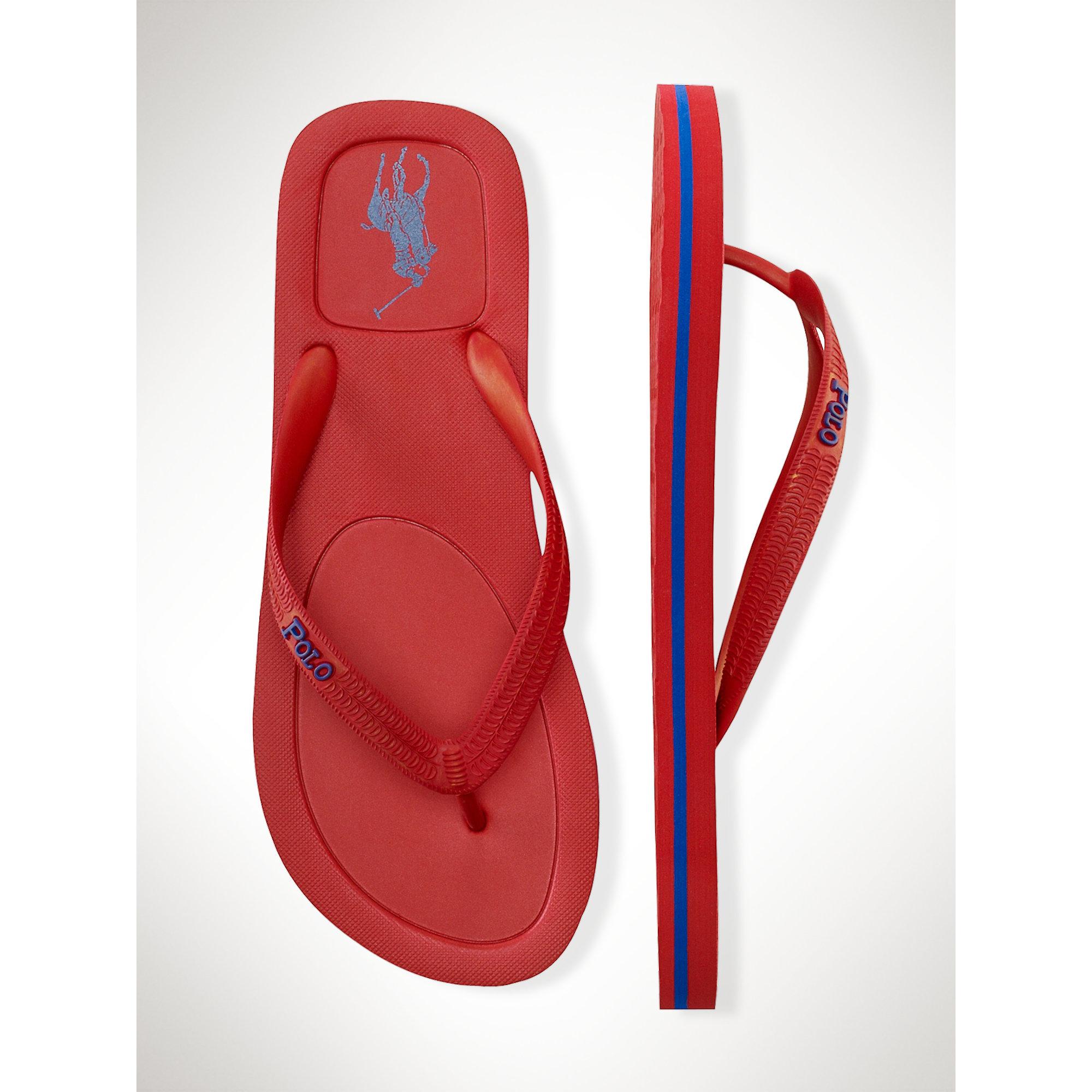 96f4871e8 Lyst - Polo Ralph Lauren Halesowen Flip-flop in Red for Men