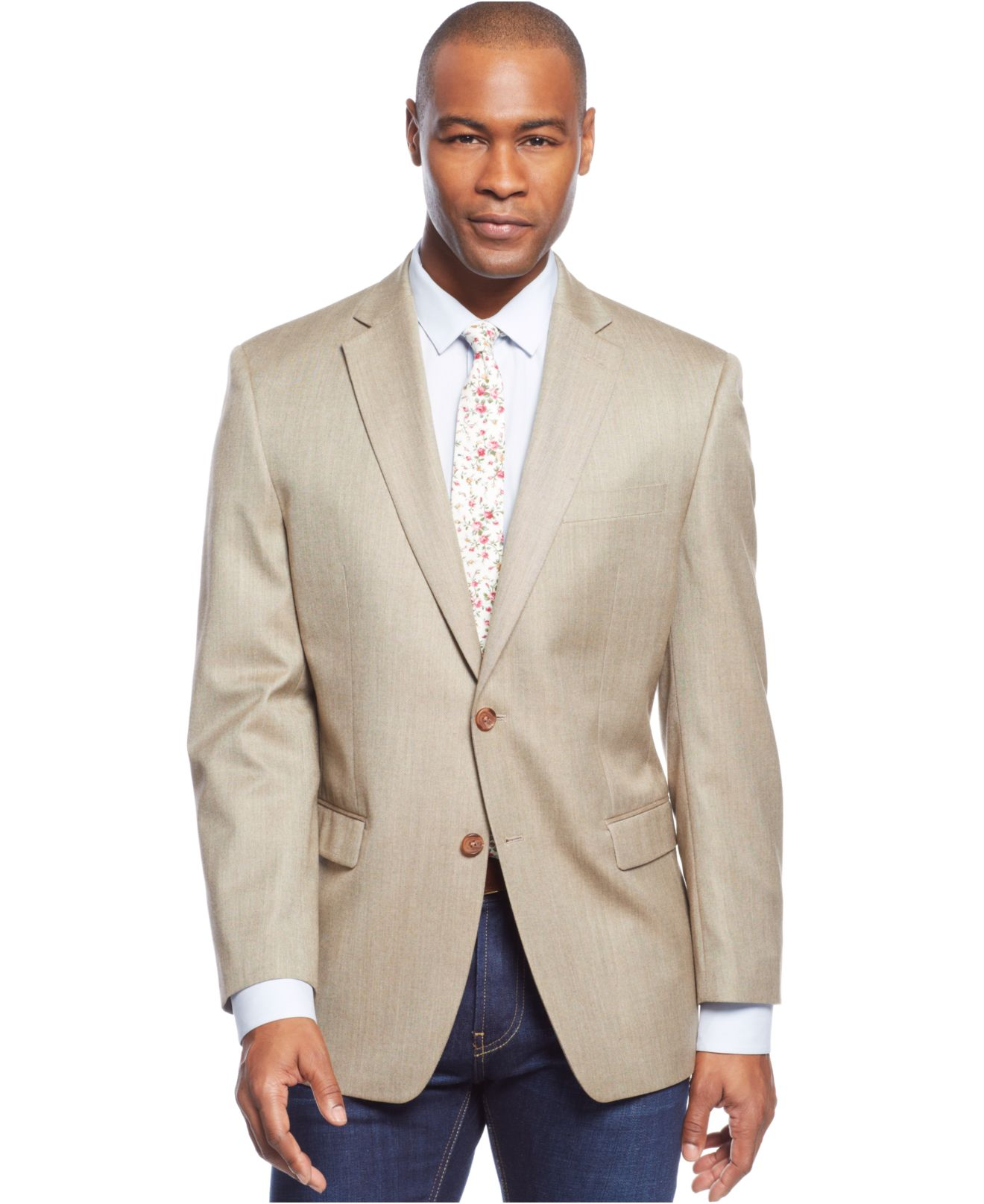 A vintage-inspired donegal tweed sport coat features a notched lapel, two-button front, open patch pockets and elbow patches. It goes great with a v-neck sweater vest or gingham-checked dress shirt. From sweaters and coats to thermal shirts and workwear, Sears has a wide variety of men's big and tall clothing for every occasion.