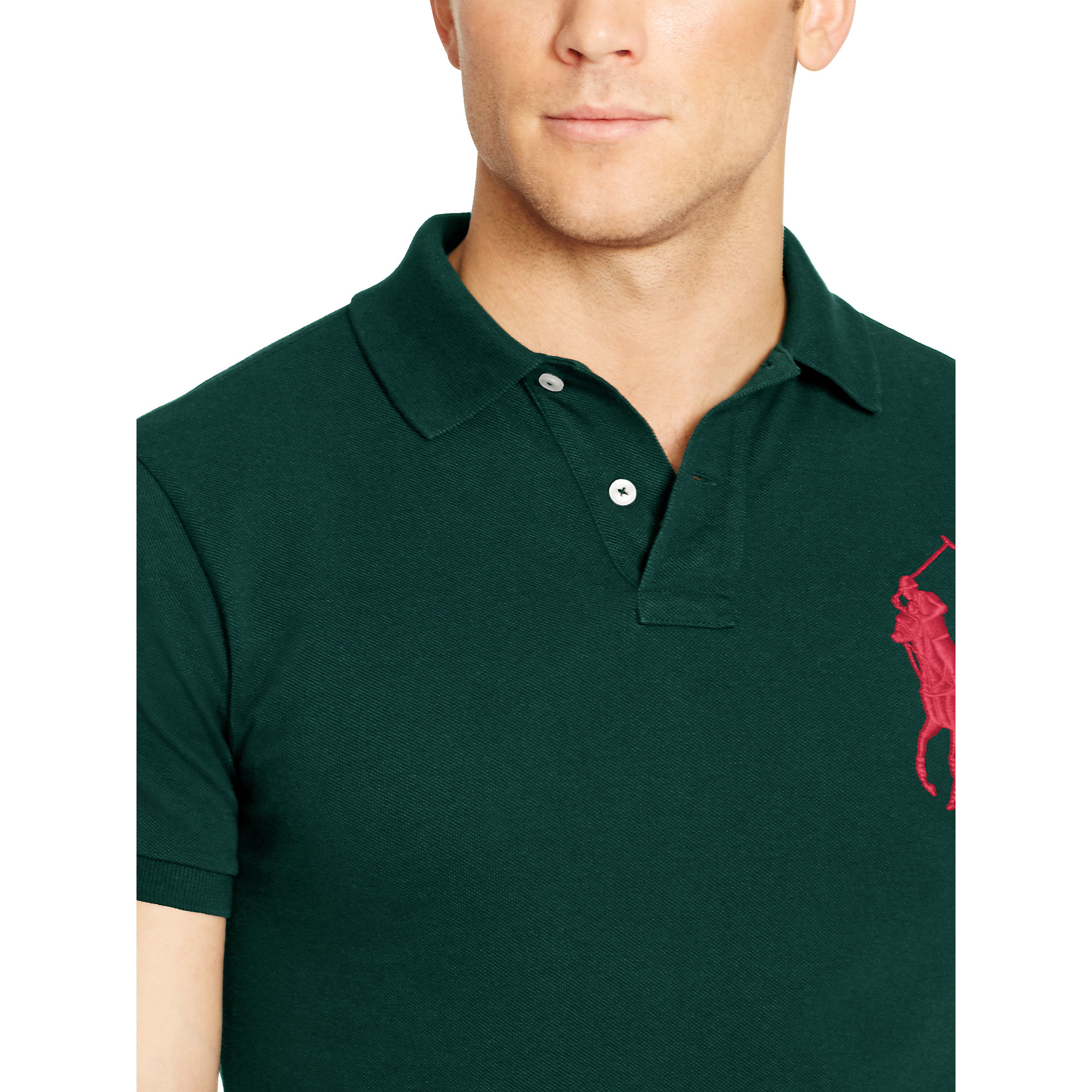 Polo ralph lauren Custom-fit Big Pony Polo in Green for Men (hunter green