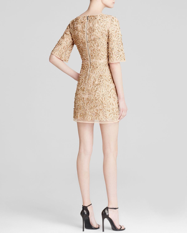 ea8888e5f4 Lyst - Alice + Olivia Dress - Drina Embellished Rose Gold in Natural