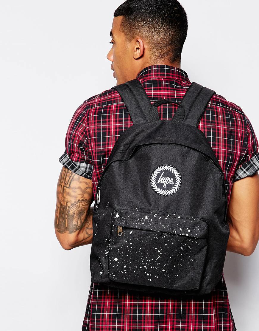 Hype Black With Blue And White Speckle Backpack- Fenix Toulouse Handball d3a2ca5341083