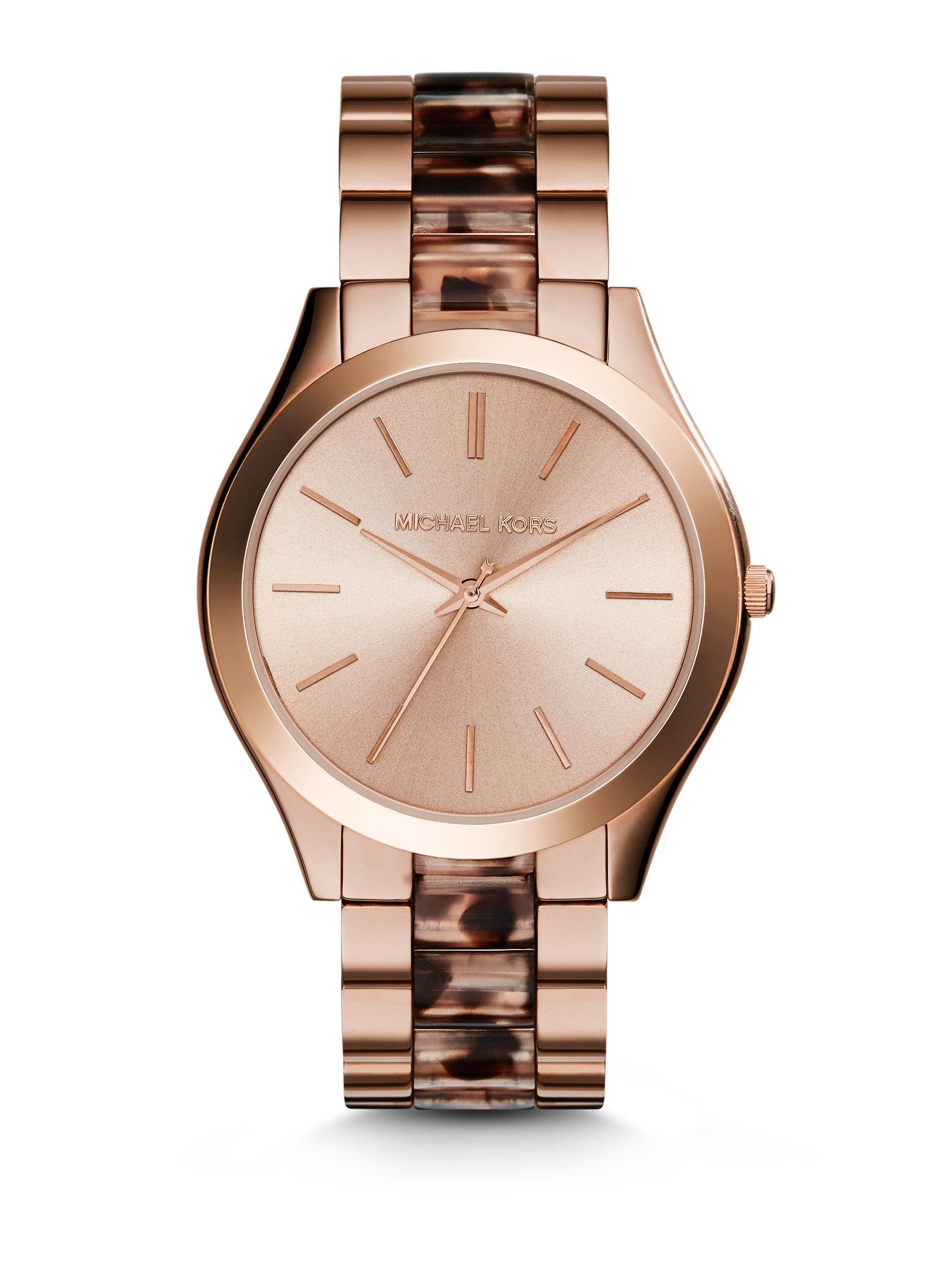 Lyst Michael Kors Slim Runway Mk4301 Watch In Pink