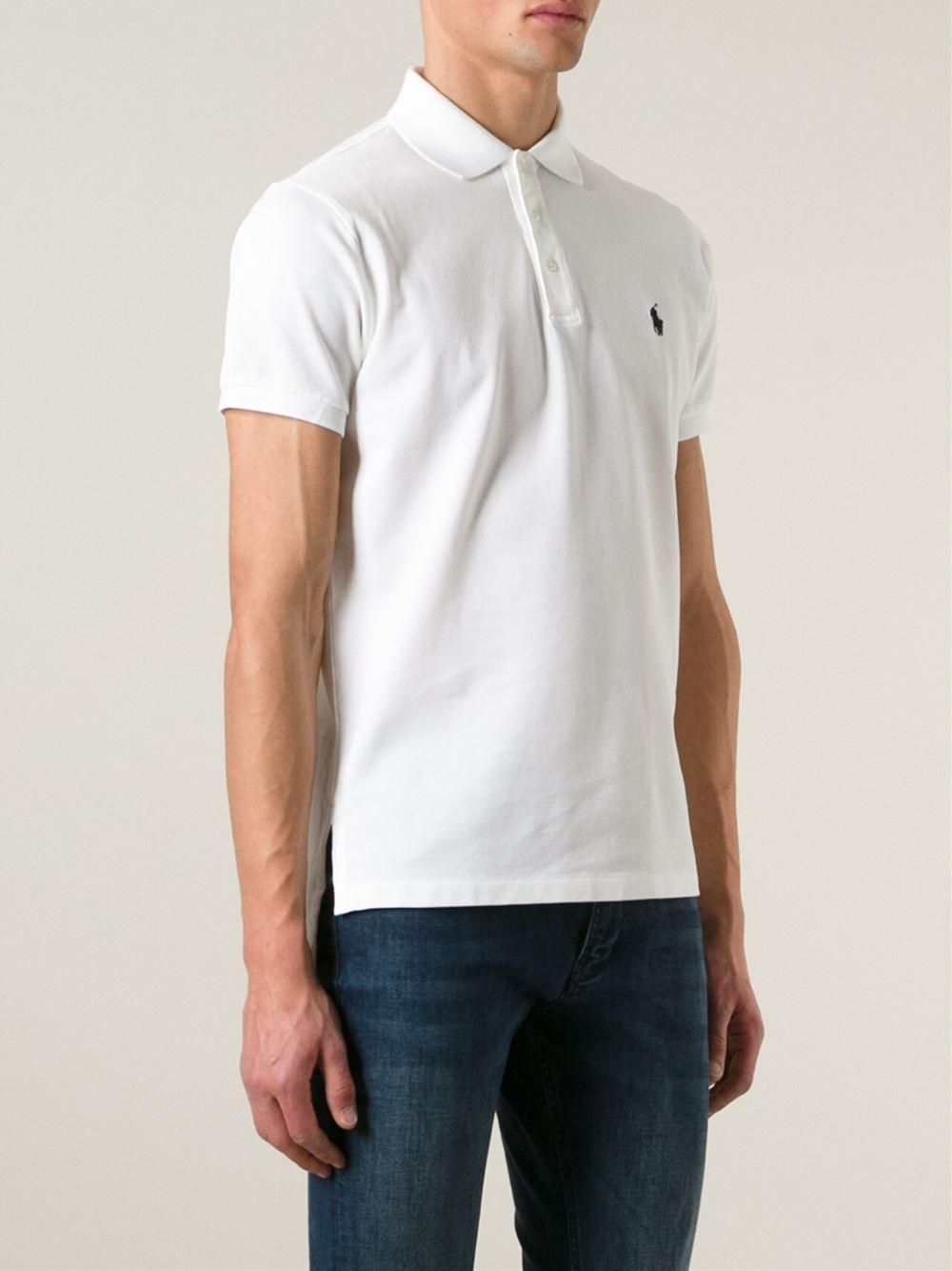 Polo Ralph Lauren Short Sleeve Polo Shirt In White For Men