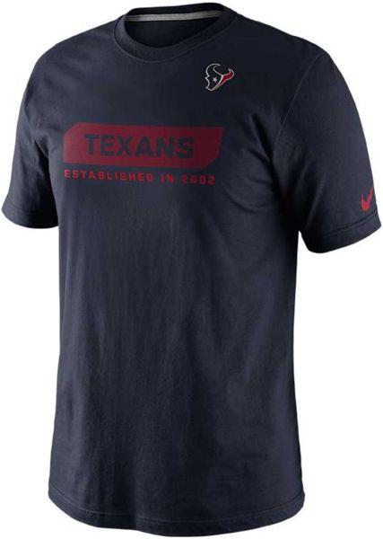 Nike Men 39 S Short Sleeve Houston Texans T Shirt In Blue For