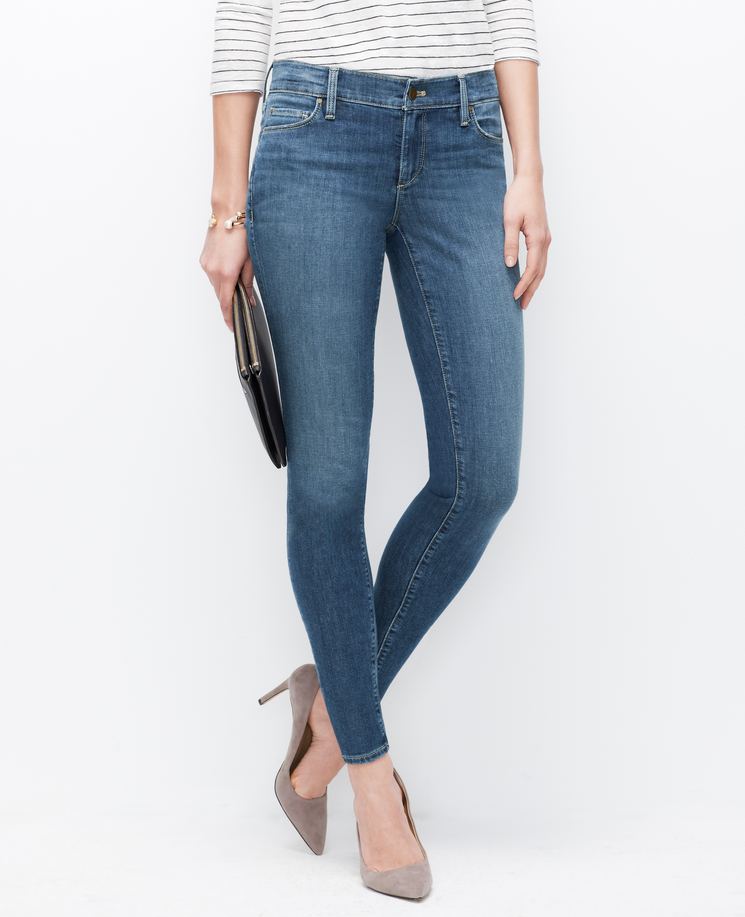 Petite curvy skinny ankle jeans